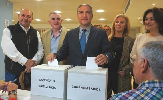 Elías Bendodo votación compromisario y candidato 28 de abril